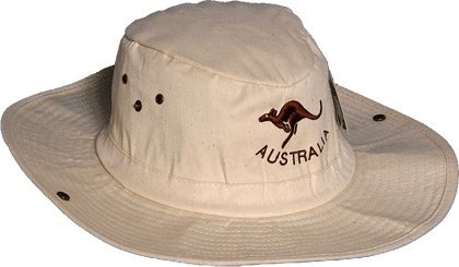 AussieProducts.com Tan Slouch Hat with Kangaroo Logo