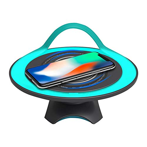 ChuangSiAo Bluetooth Speaker Compatible Plus iPhone X XS MAX XR for Galaxy S9 Note 8 Charging Home Decoration Wireless Charger Thanksgiving Christmas