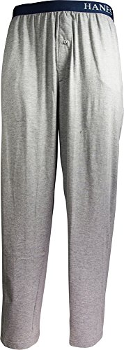 Hanes Mens Solid Knit Sleep Pant, Heather Grey (Sleep Pants Shop)