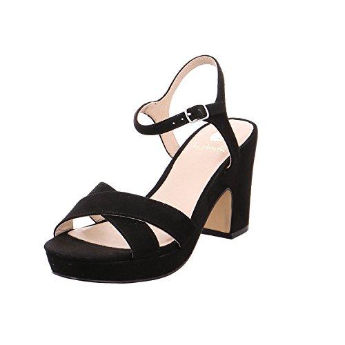 La Strada Damen Sandale, black micro Black Micro