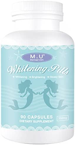 Magic Whitening pills for skin -3 times better than glutathione - Focus on Clear Glossy Brightening and Smoothy Skin Support - Dark Spot Remover Acne & Acne scar Remover - NON GMO Green Natural Plants