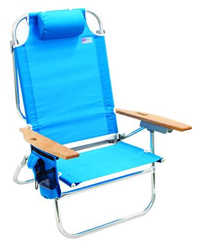 Rio Beach Hi-Boy Folding 5 Position Lay Flat Beach Chair - Turquoise