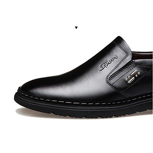 Cuir Occasionnels De Paresseux Sport Affaires Brown Chaussures Respirant Mode en LYZGF Hommes EnTq00