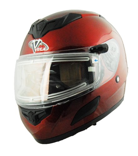 Vega Insight Electric Snow Full Face Helmet (Candy Red, Large) (Helmet Snow Vega)