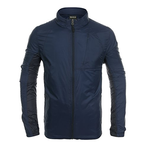 Hitvlis Super Lightweight Mens Casual Travels Hidden Hood Windbreaker Jacket (Large S, Navy) ()