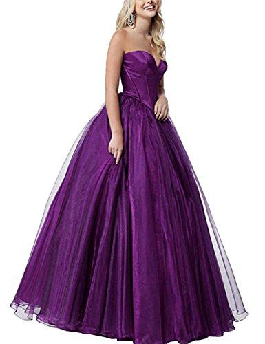 Donna Purple C a Stillluxury orlo corte con palloncino Vestito Maniche Cw0qv
