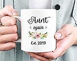 Aunt Again Est 2019 Mug, Aunt Again Gifts, Second Baby Announcement Mug, Pregnancy