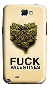 Samsung Note 2 Case Fuck Valentines Weed 3D Custom Samsung Note 2 Case Cover