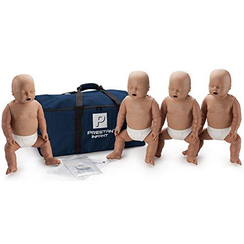 Prestan Infant Dark Skin CPR-AED Training Manikins 4-Pack (w/o CPR Monitor)
