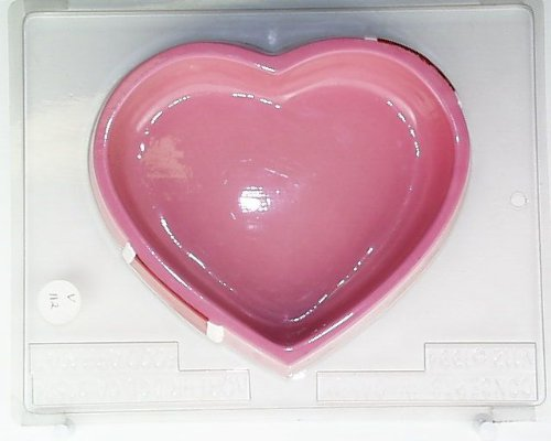 Large heart pour box matching heart w/ bow V112 Valentine's Day chocolate candy mold (Large Chocolate Heart Box Mold compare prices)