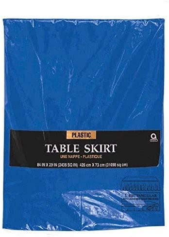 amscan Bright Royal Blue Table Skirt 4.2m x 73cm-1 PC Falda de ...