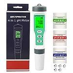 Misuratore pH Digitale 4 in 1 Tester di pH TDS EC TEMP, Display LCD Retroilluminato con Calibrazione Automatica, 0,01… 412O4AacEBL. SS150