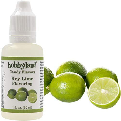 Hobbyland Candy Flavors (Key Lime Flavoring, 1 Fl Oz), Key Lime Concentrated Flavor Drops