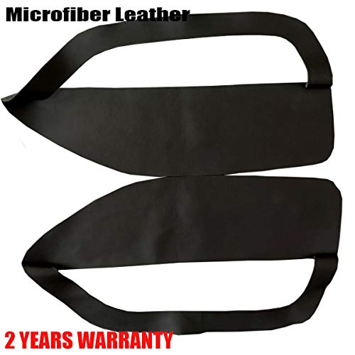 - ALLMOST for Ford Mustang 2005-2009 Leather Door Panel Insert Card Cover Kit New Black
