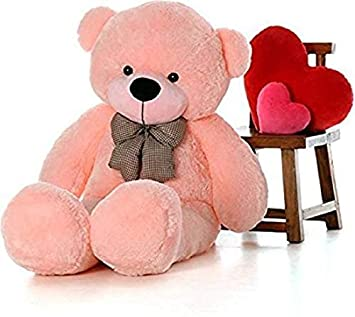 751ca27ab Buy Lovehug  Very Soft Quality Baby Pink Teddy Bear 5 feet - 152 cm (Pink)  Online at Low Prices in India - Amazon.in