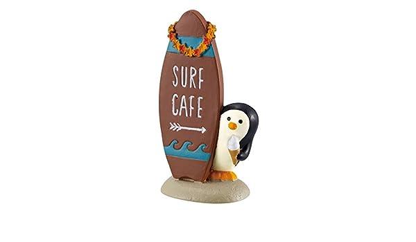 Figura de pingüino con letrero en forma de tabla de surf de Japón: Amazon.es: Hogar