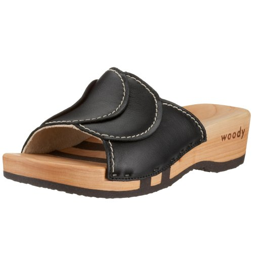 Woody Vanessa Women's Clog, Black, 9 UK