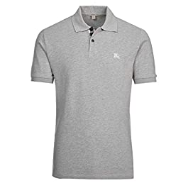 BURBERRY Brit Polo Shirt, Pale Grey Melange (XS)