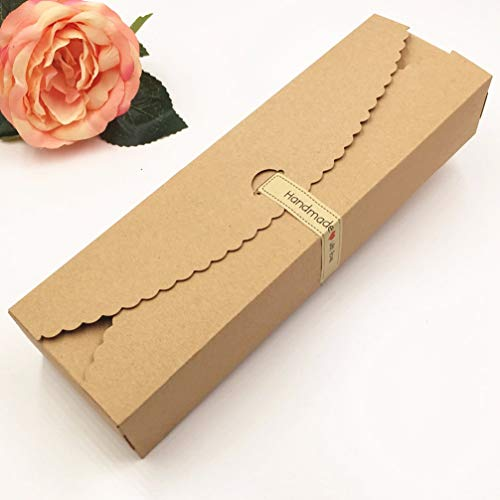 Gold Truffle Box - MEIZOKEN 20pcs/lot Kraft Gift Boxes Paper Handmade Candy/Chocolate Packing Box Blank Storage DIY Wedding Cake Boxes 23x7x4cm