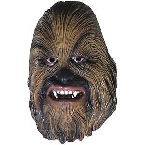 [Chewbacca 3/4 Vinyl Mask Wookie Costume Accessory Kids Star Wars Halloween] (Vinyl Halloween Costumes Mask)