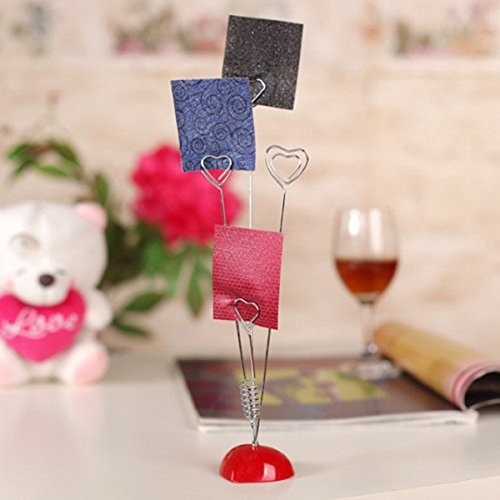 Dproptel Upgraded Heart-Based 4 Wire Clasps Card Holder Memo Clips Tree For Note Clip Shop Price Tag Photo Display Wedding Table Name Home Decoration - Pack of 2 by Dproptel (Image #6)