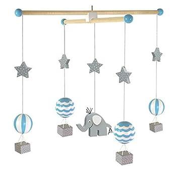 JaBaDaBaDo Mobile U0026quot;Elefant Blauu0026quot; Pastell Einschlafhilfe Junge  Tiere Kinder Baby Kinderzimmer Babybett