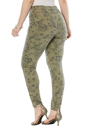 Roamans-Womens-Plus-Size-Distressed-Twill-Jeans