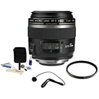Canon EF-S 60mm f/2.8 Compact Macro AutoFocus Lens Kit, USA - Bundle with Pro Optic 52mm Filter Kit, Lens Cap Leash, Professional Lens Cleaning Kit
