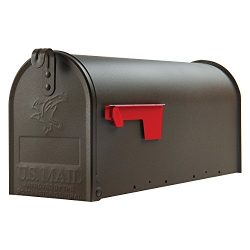 Gibraltar Mailboxes Elite Medium Capacity Galvanized Steel Bronze, Post-Mount Mailbox, E1100BZO