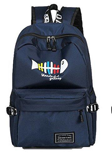 à Femme AgooLar Daypacks Matériel dos Bleu de GMBBB181016 de Sacs randonnée Soie Foncé Daypack 6wCwqdW8A
