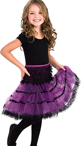 [Forum Novelties Child's Crinoline Skirt, Purple and Black] (80s School Girl Costume)