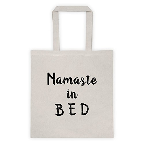 Namaste In Bed Sleepy Hindi Meme Cool Funny Message Outdoor Humor Grocery Shopping White Tote Bag