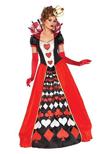 Leg Avenue Women's Plus Size Deluxe Queen of Hearts Costume 2XL Red