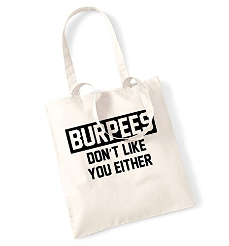 Burpees Burpees don't tote like either Natural don't you you like bag fqptSxw6q