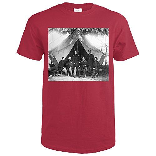 Washington  Dc   Gen  William Hays And Staff Civil War Photograph  Cardinal Red T Shirt X Large