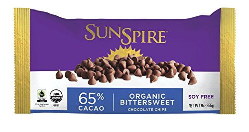 - Sunspire Organic 65% Cocoa Bittersweet Chocolate Chips, 9 oz