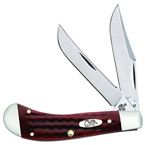Case Pocket Worn Old Red Bone Saddlehorn Pocket Knife (Bone Pocket Red Worn Knife)