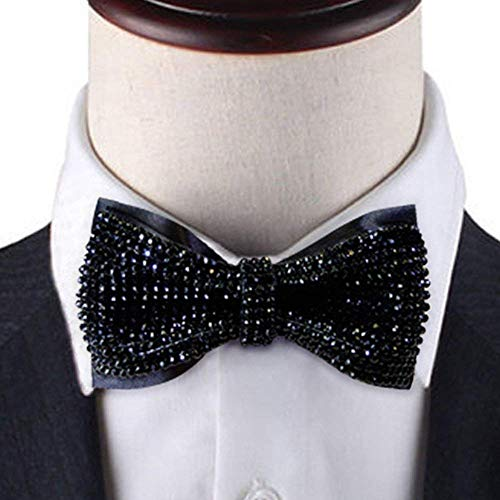Black Crystal bow tie, 2 layers Rhinestones bow tie,black bow tie, Bling bow tie, bow tie black, black bow tie for ment, -