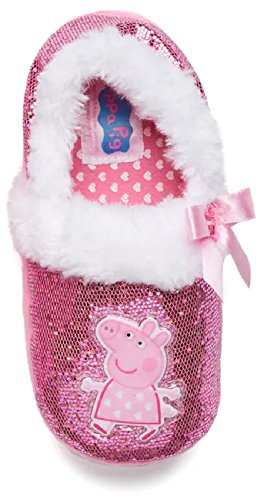 (Peppa Pig Girl's Pink Slippers (7-8 M US Toddler, Pink/White))