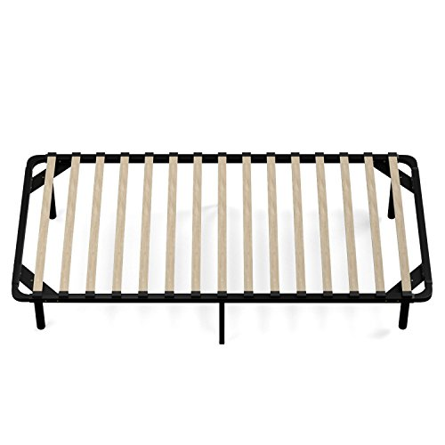 Amazoncom Handy Living Wood Slat Bed Frame Twin Kitchen Dining
