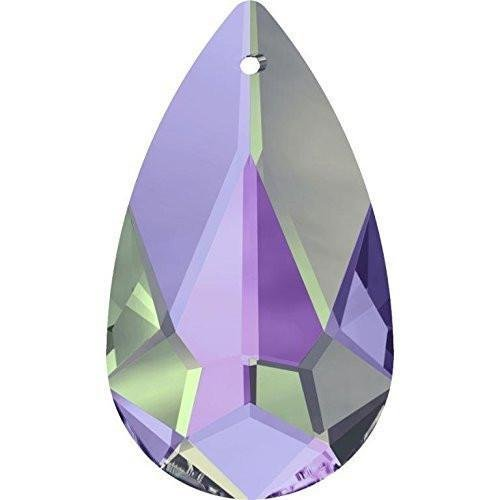 6100 Swarovski Pendant Teardrop | Crystal Vitrail Light | 24mm - Pack of 1 | Small & Wholesale Packs ()