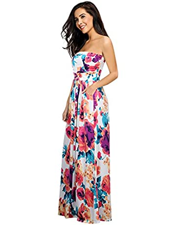 991038b3bd1b Clearlove Women's Floral Casual Beach Party Maxi Dress