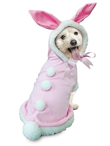 [Pink Bunny Rabbit Deluxe Easter/Halloween Costume for Dogs by Puppe Love (Size 4 (12.5