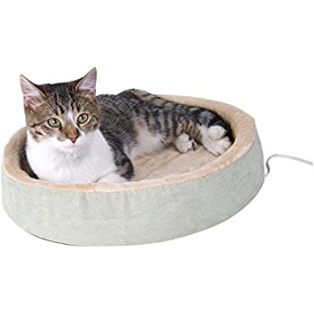 "K&H Pet Products Thermo-Kitty Cuddle Up Heated Pet Bed Sage 16"" 4W"