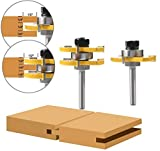 """WREOW Tongue and Groove Router Bit, 1/4"""" Shank"""