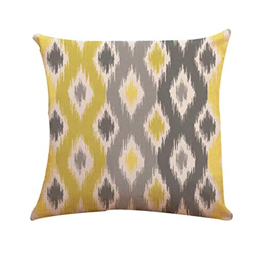 Qingell Decorative New Living Series Yellow and Grey Decorative Throw Pillow Case Cushion Cover 18
