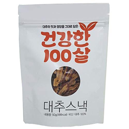 Korean Dried Jujube Slices Snack 1.7oz Seedless 100% Organic Healthy K-Foods Chammat Jujude Farm []