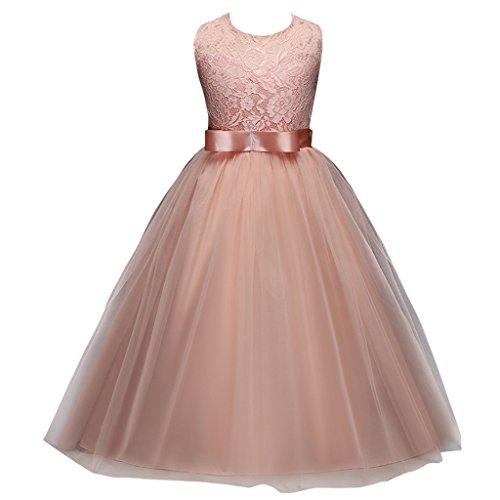 FantastCostumes Girl Princess Sleeveless Lace Dress(Pink,120)