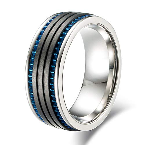 Unique Design Wheel Gear Center Mens Ring 316l Stainless Steel Wedding Band for Men Jewelry