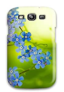 Galaxy S3 Cover Case - Eco-friendly Packaging(green Beautiful Flowers) 2718670K98501313